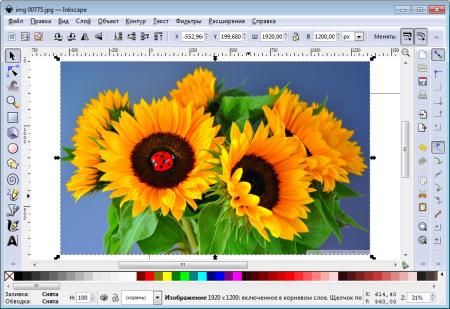 Inscape редактирование изображений