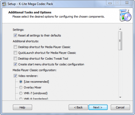 K-Lite Codec Pack настройка