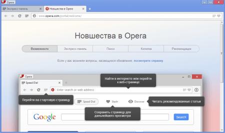 Opera новшества